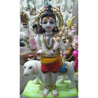 Marble God Bheru Baba Statue