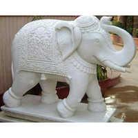 Elephant Marble Moorti