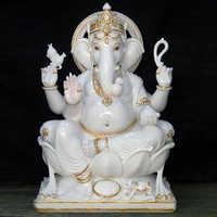 Marble Goddess Ganesha Statue