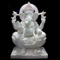 Marble Goddess Ganesh Statue