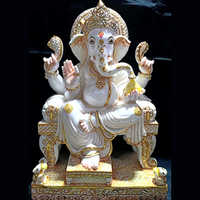 White Marble God Ganesha Statue