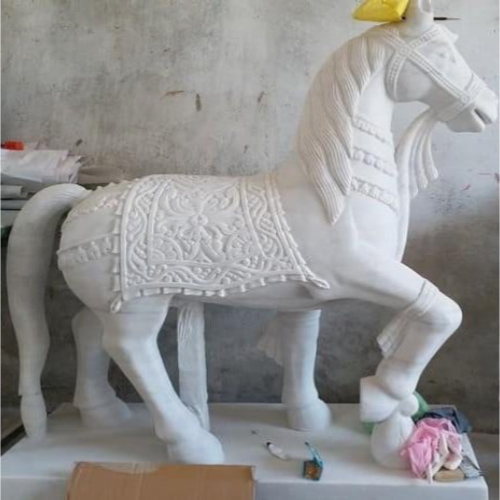 White Marble Horse Statue