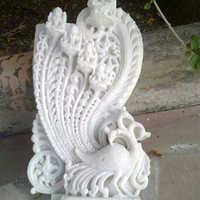 Peocock Marble Statue