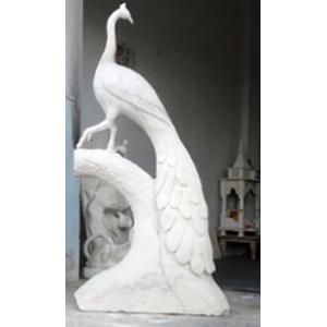 White Peocock Statue