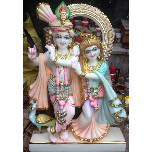 White Goddess Radha Krishna Moorti
