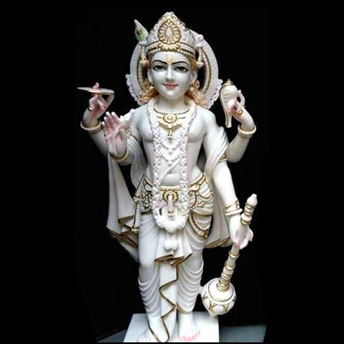Marble God Vishnu Statue