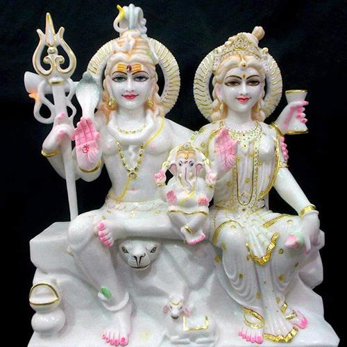 God Shiv Parvati Moorti