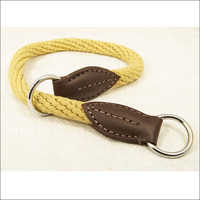 Punched Khaki Rope Choke Collar
