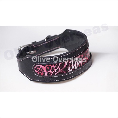 Pink Panther 50mm Leather Dog Collar