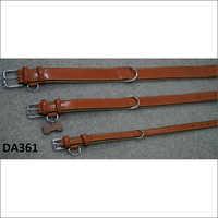 Saddle Leather Beige Dog Collar