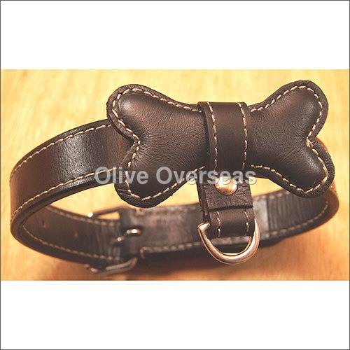 Bow Tie Stylish Leather Dog Collar