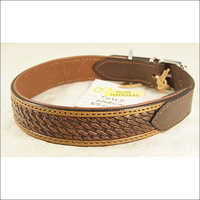 Hand Tooled and Hand Dyed Leather Dog Collar