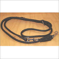 Black Rolled Soft Leather Dog Leash