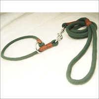 Green Cord Leash With Choke Collar
