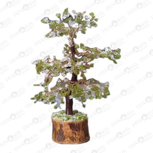 Peridot + Crystal Tree