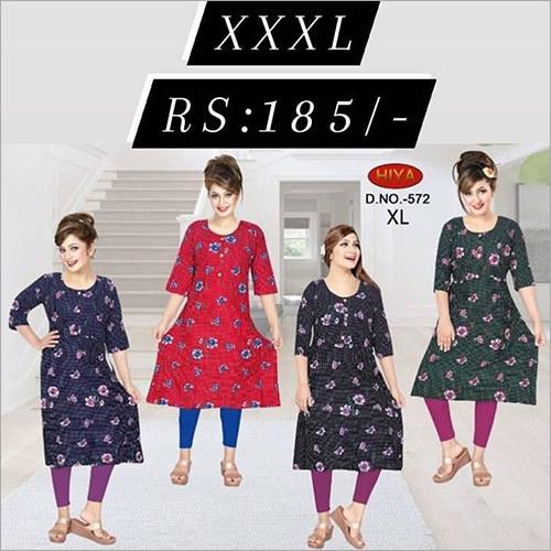 XXXL Printed Ladies Kurti