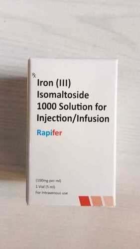 Iron (Iii) Isomaltoside 1000 Solution For Injection/Infusion