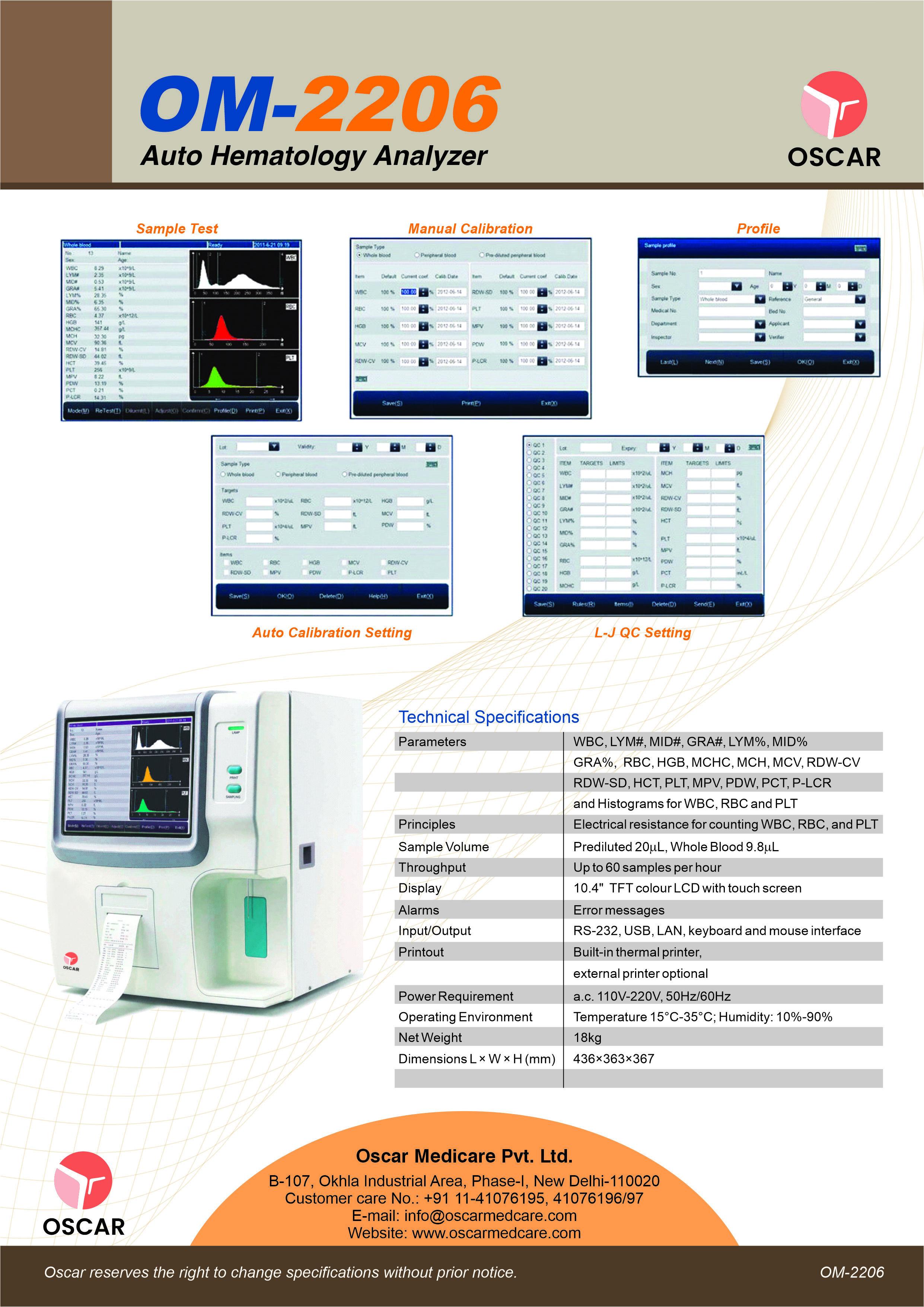 Auto Haematology Analyzer