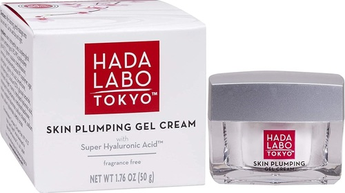 Hada Labo Tokyo Skin Plumping Gel Cream 1.76 Fl Oz - with Super Hyaluronic Acid & Collagen - 24 Hour Moisture & visible Line Plumping Fragrance & Paraben Free Non-Comedogenic
