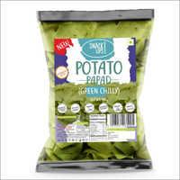 Green Chilly Potato Papad