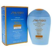 Shiseido Ultimate Sun Protection Lotion Wetforce Spf 50 for Sensitive Skin and Children By Shiseido for Unise