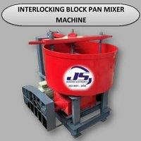 Interlocking Block Pan Mixer Machine