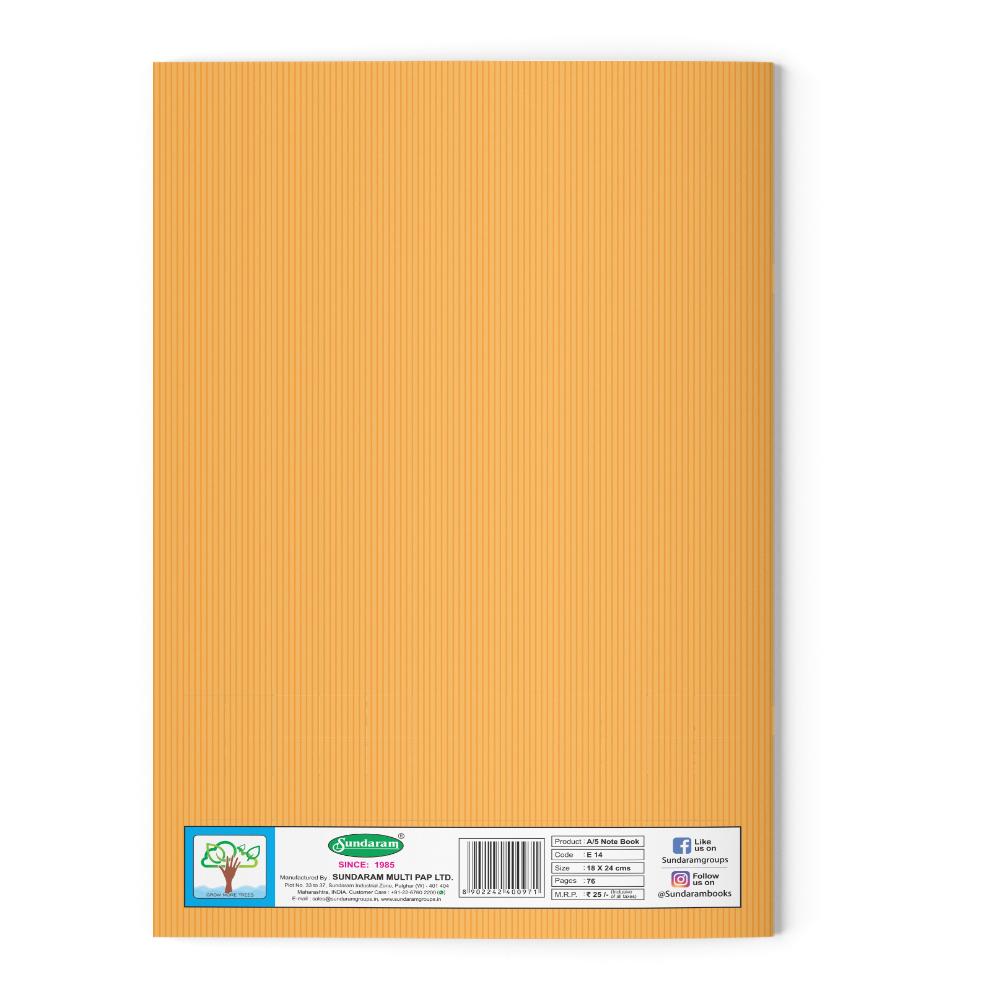 Sundaram Winner King Note Book (R & B Gap) - 76 Pages (E-14R)