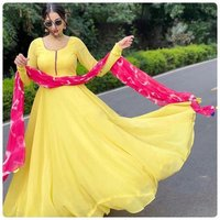 NEW DESIGNER PRINTED ANARKALI GOWN COLLECTION