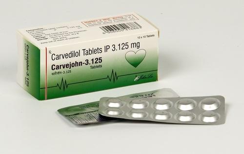 Carvedilol IP  3.125 mg