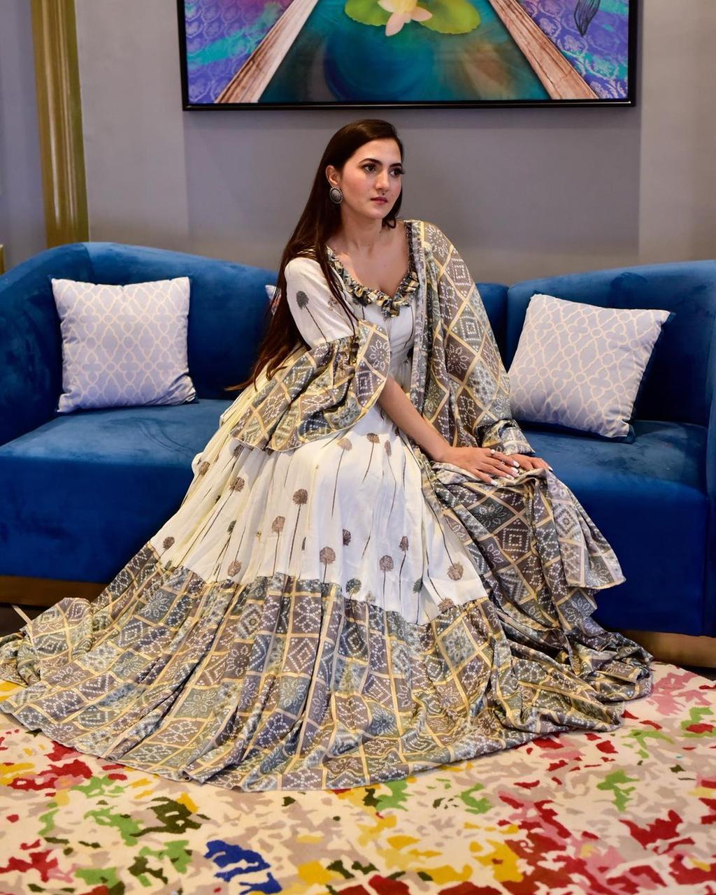 DESIGNER MONSOON SPECIAL PRINTED GOWN COLLECTION