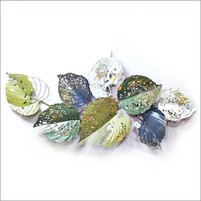 Colorful Metallic Leaf Wall Art