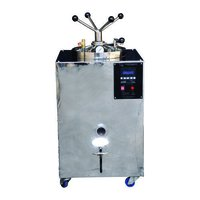 Vertical Square Body Double Walled Autoclave