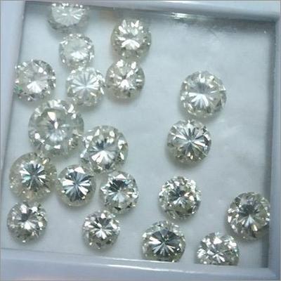 White Moissanite Diamond Stone