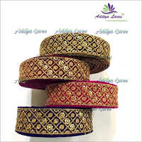 Multi-Color Velvet Lace With Zari And Sequence Embroidery