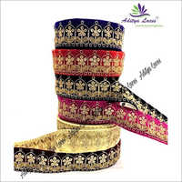 Maharani lace On Tissue Fabric With Zari Plus Sequence Work