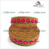 Maharani Lace With Zari And Stone Work