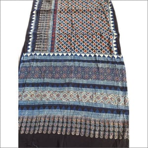 Ladies Hand Block Printed Modal Silk Saree