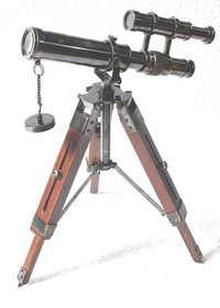 Vintage Brass Telescope With Stand