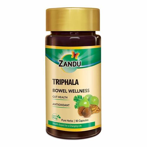 Zandu Triphala Capsules, Supports Bowel Wellness - 90 Veg Capsules