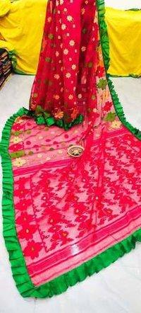 Raffel Jamdani saree