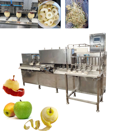 FACS-3600 Apple Cutting Peeling Machine Stainless Steel Continuous Fruit Apple Cutting Machine