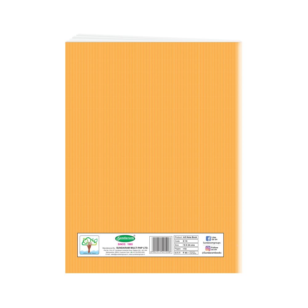 Sundaram Winner King Note Book (3 in 1) - 172 Pages  ( E-15X )