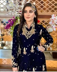 FANCY VELVET WITH EMBROIDERED GOWN COLLECTION