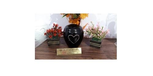 Aluminium Black Tea Light Urn Funeral Supplies