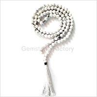 108 Mala Howlite Necklace Beads