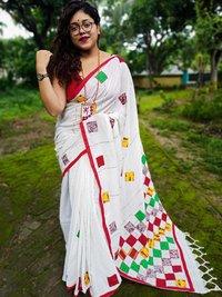 Khaadii khesh Full body applique work saree