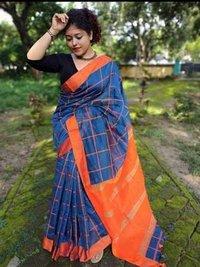 Check handloom saree