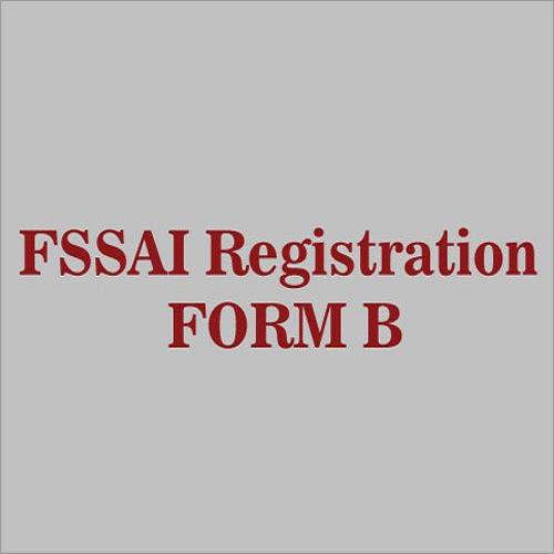 FSSAI Registration Form B Services