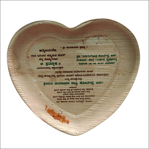 Heart Shaped Biodegradable Plate