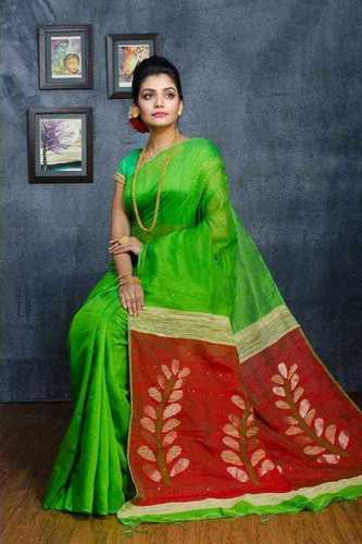 Leaf work designer saree